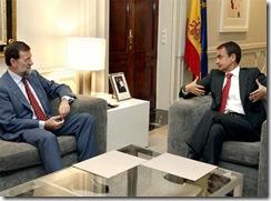 Zapatero con Rajoy
